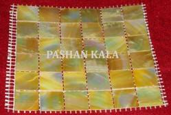 Yellow Mother of Pearl Mosaic Tiles