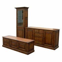 Brown Wooden TV Cabinet Rack