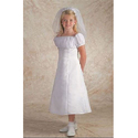 White Party Wear Trendy First Communion Dress