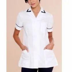 White Plain Machine Wash Ladies Nurse Uniform, For Hospital