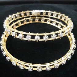 Gold Diamond Bangles