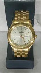 Titan Golden Wrist Watch