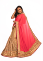 Angosree Satin Broad Border Saree