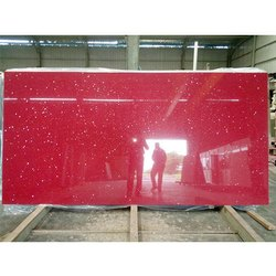 Red Quartz Slab, For Countertops