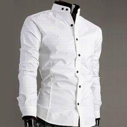 Linen Male Men's Stand Collar Shirt