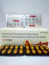 Paracetamol 325mg Phenylephrine 5mg Caffeine 30mg Diph