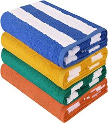 Stirpes Multicolor CABANA Stripes Bath Towel, for Bathroom, Size: 30