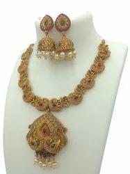 Matte Finish Temple Jewelery Set D 5048