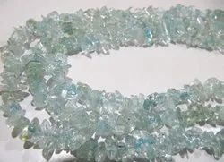 Natural Blue Topaz Uncut Free Shape Chip Beads 6to 8 Mm  Strand 34inch Long