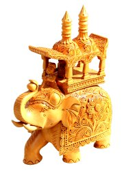 Wooden Handicraft Royal Elephant Statue
