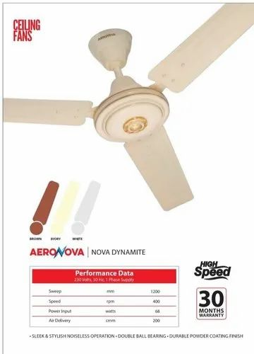 AERONOVA Ceiling fan, Fan Speed: 1200MM, Power: 75 Watt