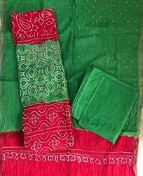 Unstitched Micro bandhej Dress Material