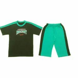 Cotton T-Shirt And Half Pant Set