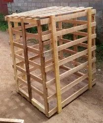 Rubber Wood Crate, Shape: Square