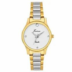 Jainx Premium Golden Analog Watch for Women JW1204