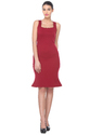 One Piece Plain Maroon Bodycon Dress, Packaging: Bag