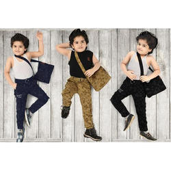 Synthetic Cotton Kids Cargo Pant