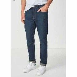 Mens Cotton Denim Blue Plain Stretchable Jeans