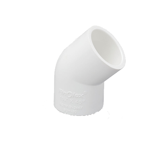PVC Pipe 45 Degree Elbows 20 mm Plain Solvent Weld Quantity 8