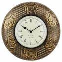 Horse Antique Wall Clock Brass