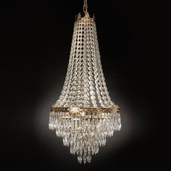 Crystal Jhoomer Light, Shape: Round