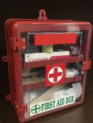 Plastic First Aid Box With Content