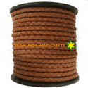 Light Brown Nappa Braided Leather Cord
