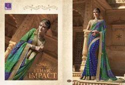 Ladies Cotton Designer Border Saree, Saree Length: 5.5 m