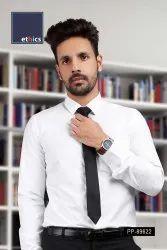 White Men's Formal Readymade Uniform Shirt