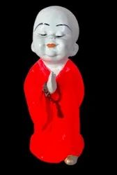Poly Resin Baby Monk 7 Inch Statue For Showpiece