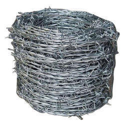 Silver Steel Barbed Wire