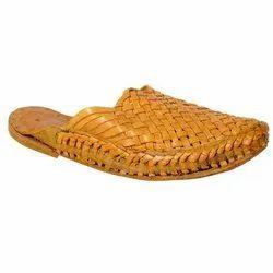 Casual Wear Mens Leather Kolhapuri Slipper, Size: 6-10
