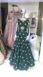 Ethnic Chiffon Full Gown, Size: Large