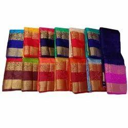 Kala Niketan Party Wear Ladies Balaton Embossed Pure Silk Saree, 5.5 m (separate blouse piece)