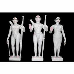 Iskcon Ram Darbar Marble Statues Set