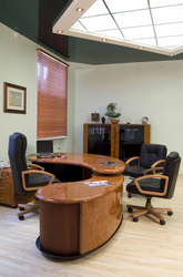 Wood Brown And Black Office Furniture