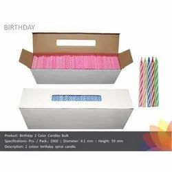 2 Color Birthday Spiral Candles