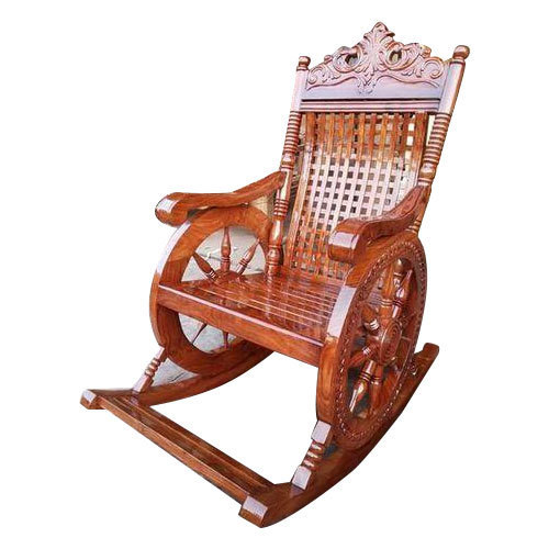 Antique Wooden Rocking Chair - Antique Wooden Rocking Chair, Prachin Hindola Kursi, प्राचीन