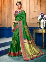 Art Silk Weaving Saree With Blouse Piece