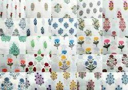 Flower Printed Block Print Fabric