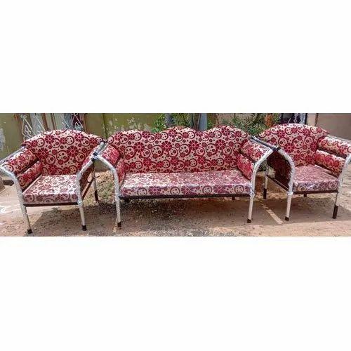 Designer Printed Steel Sofa Set