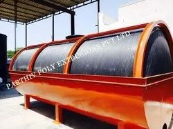 HDPE Spiral Horizontal Tank with MS Structure