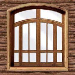 Brown Exterior Wooden Window