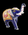 Hand-Carved Elephant Statue with Companies Logo
