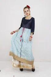 3/4th Sleeve Designer Original Moksh (M) Brand Kurti, Age Group: 18 - 60