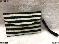 Black And White Dari Clutch