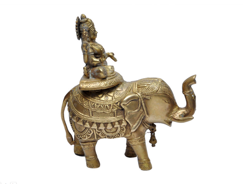 Golden Brass Ma Lakshmi Statue With Elephant Rs 3599 Piece Mpcrafts Com Id 19483169691 Elephant illustration, african bush elephant asian elephant african forest elephant, elephant, mammal, animals png. brass ma lakshmi statue with elephant