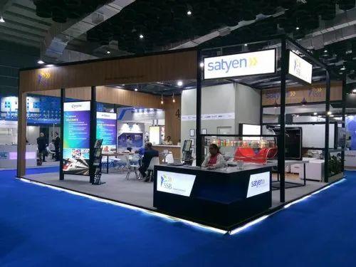 Exhibition Shell Scheme : Aluminium profile promotional exhibition stall for shell scheme