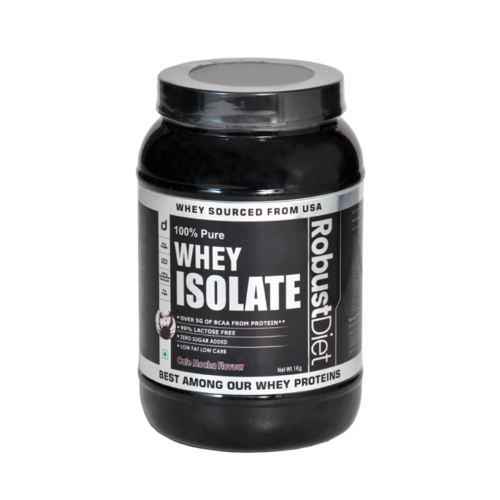 32694b46c RobustDiet 100% Pure Whey Protein Isolate 1 Kg Cafe Mocha Flavour ...