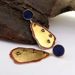 Gold plated designer Enamel Earring